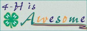 """4-H banner: """"4-H is Awesome"""""""