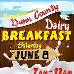 Dunn County Dairy Breakfast, Saturday June 8th, 7am-11am